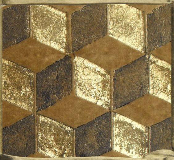 motif cubes perspectives décor peint à la main