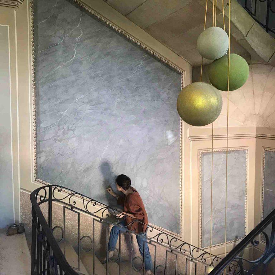 décor peint restauration faux marbres