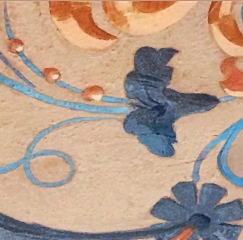 détail peint plafond cote d'azur